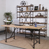 Industrial Reclaimed Wood Matel Dining Table