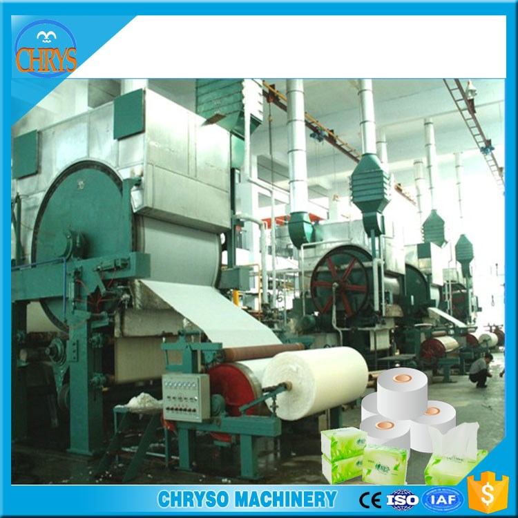 787 Type Waste Paper Recycling Machine Toilet Paper Making Machine For Small Business