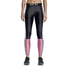 2016 Fashion New Arrival 3D Printed Color Sexy Women Fitness leggings Sexy Leggings Girls Pics