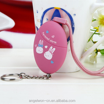 120db children rape attack alarm lady anti theft bag panic alarm with keychain