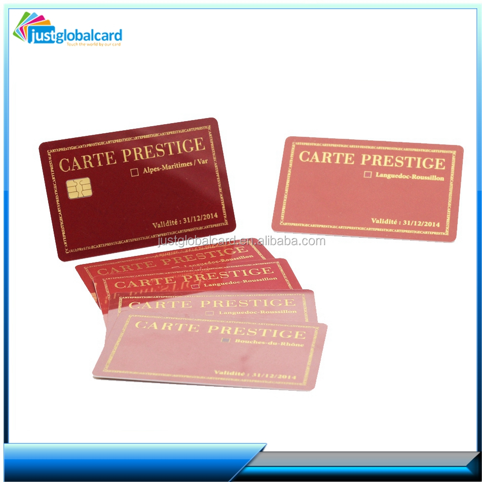 PVC/ABS Plastic Contact Chip Smart Card With Magnetic Strip/magnetic card with nfc tag