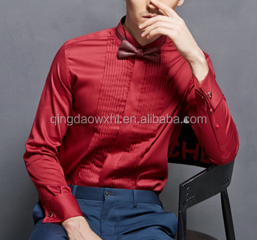 Men's Button Down Collar Slim Fit Dress Shirts For man groom wear