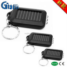 promotion plastic solar energy 3led keychain light flashlight torch