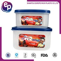 Food grade material easy open plastic food container for kids