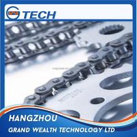 Conveyor roller pads motorcycle chain and sprocket design