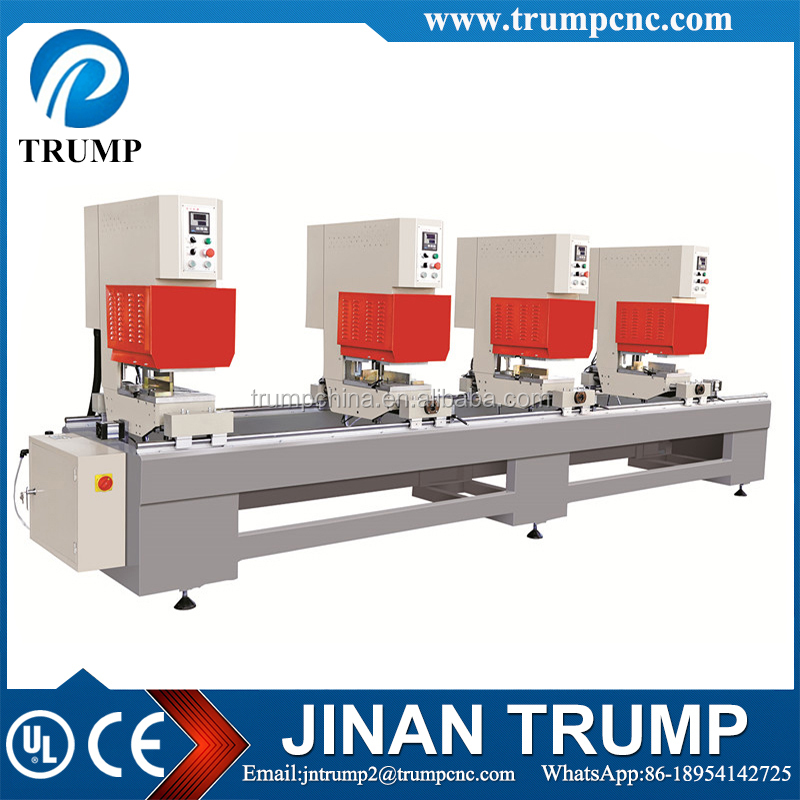 Seamless welding machine with four welding head for PVC/UPVC/plastic window door frames and sash processing