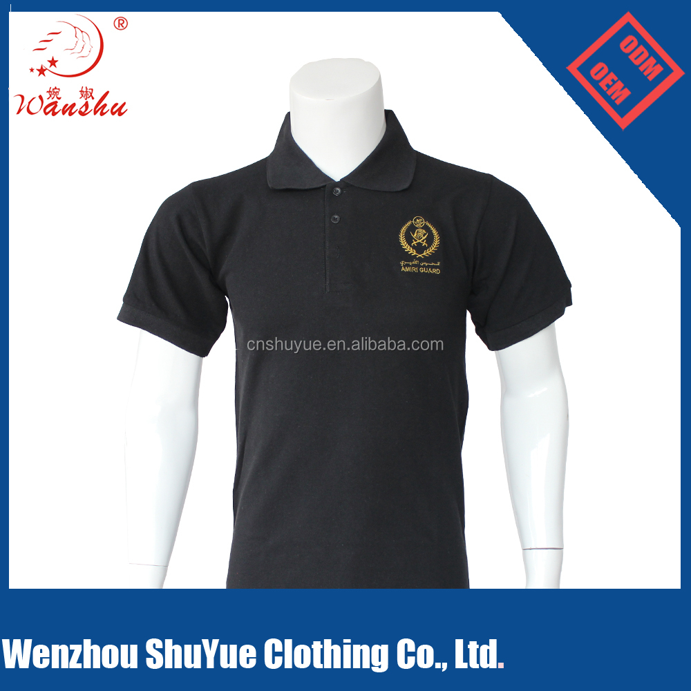 Hot sale 200gsm cotton embroidery polo shirt, polo t shirt for promotion advertisement