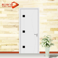 Latest design single leaf steel wooden door with glass