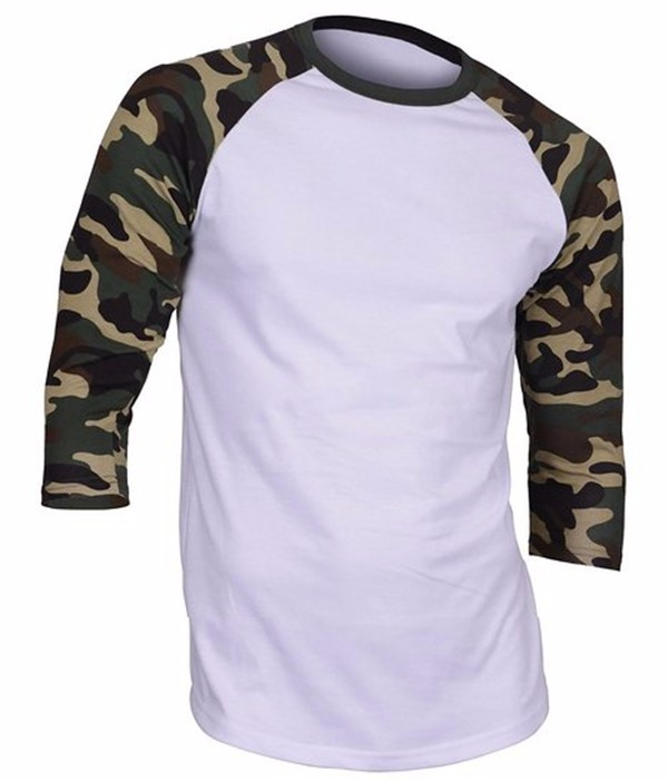 High quality wholesale custom army green blank camo t for Custom raglan baseball shirt