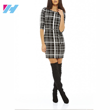 Professional clothing factory OEM classic summer office bodycon pencil midi ladies dress