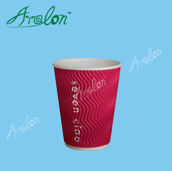 Beverage Use and Cup Type custom printed ripple wall paper cups