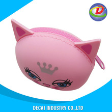 Customization soft silicone rubber cosmetic bag , silicone molded key bag