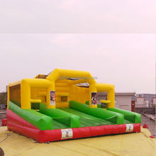 Thrilling giant customized commercial inflatable sports game crazy inflatable trampolines sports arena for sale