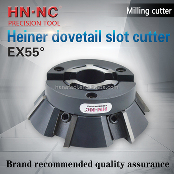 HEINER EX55 degree machine dedicated dovetail slot cutter cutter reverse chamfer milling cutter