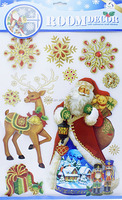 3D Christmas Pop Up Sticker For Wall / Window Decoration