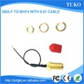 Top sell SMA Female connector to ipex connector 0.81 cable assembly for wireless modem