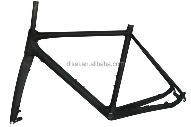 Di2 compatible disc brake normal brake carbon road bike frame 027 cyclocross city bike made in China