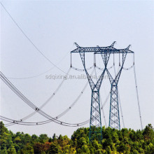 hot dip galvanization stainless distillation power pole 500kv electric transmission line steel tower