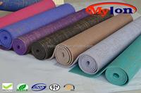 black eco jute yoga mats manufacturer thick 8/10/15mm mat for yoga