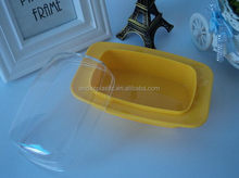 Hot sale reusable plastic container butter dish with customer printing