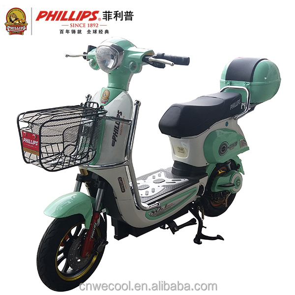 2017 PHILLIPS 48V 450W cheap electric motorcycle for sale adult city
