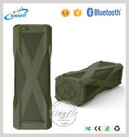 New stereo bass water resistant power bank bluetooth speaker system for home