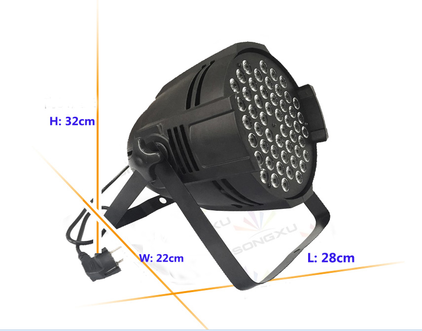 hot sale 54*3W led par light (3-in1 )/54x3W RGBW Par 54LEDS LED Par Bulb Light DMX 512 Stage Lighting