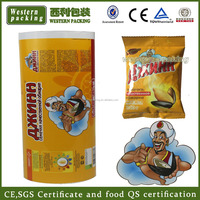 Custom printed PET/VMPET/PE laminating plastic food pouch sachet packaging film