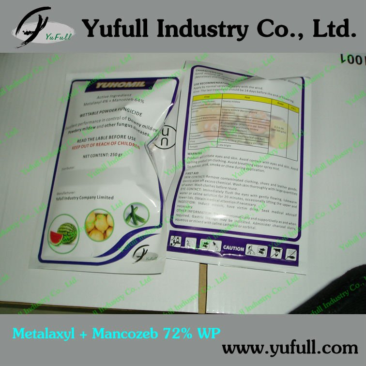 Agrochemical Ridomil Mixtured Fungicide Mancozeb 64%+Metalaxyl 8% WP