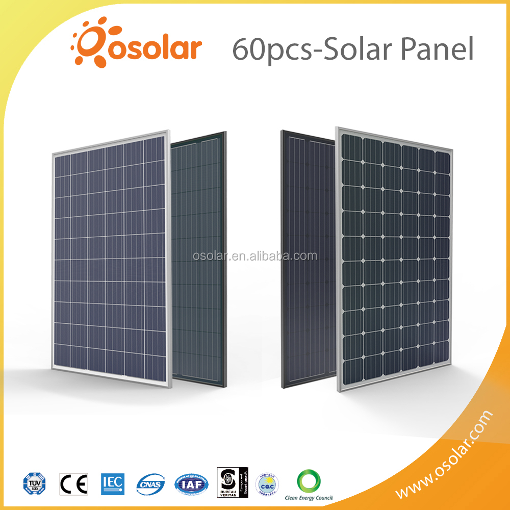 Osolar best sell high quality CEC List PV module approved by CEC council