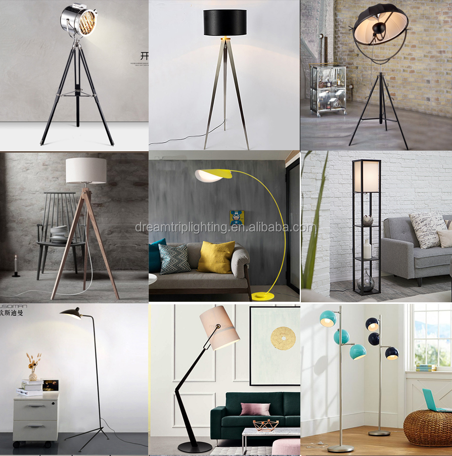 Replica Flos Resin Gun Shape Lounge Standing Floor Lamp With Fabric Shade