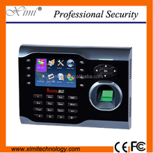 Fingerprint time attendance system keyless door lock and Communication with TCP/IP