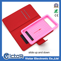 Factory direct sales slide and flexible silicon universal flip leather case