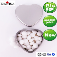 tin packaged sugar free various flavour refreshing heart mints in tin can