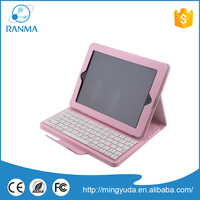 Discount tablet leather keyboard 9.7 inch bluetooth leather case for ipad 2 / 3/ 4