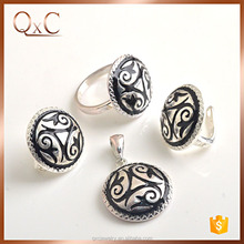 New exclusive design thai silver jewelry sets piercing jewelry