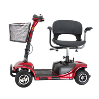 Folding portable 4 wheel old people electric mobility scooters for sale
