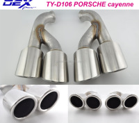 Racing car tuning exhaust muffler tips for P-orsche Cayenne exhaust silencer
