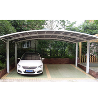 Double carport Aluminum Frame UV Car shade port,Carport, rain shelter,car parking shed,4 channel for 2cars