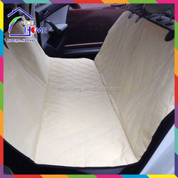 Tan factory peach skin 600D oxford the best nonslip backing pet seat cover