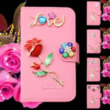 Handmade 3D flower crystal diamond case for Blackberry Passport Q3 sparkling case