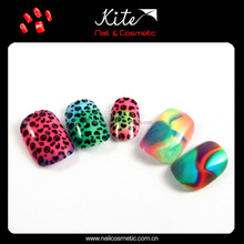 Many designs full cover false fake artificial nails tips/french curved nail tips