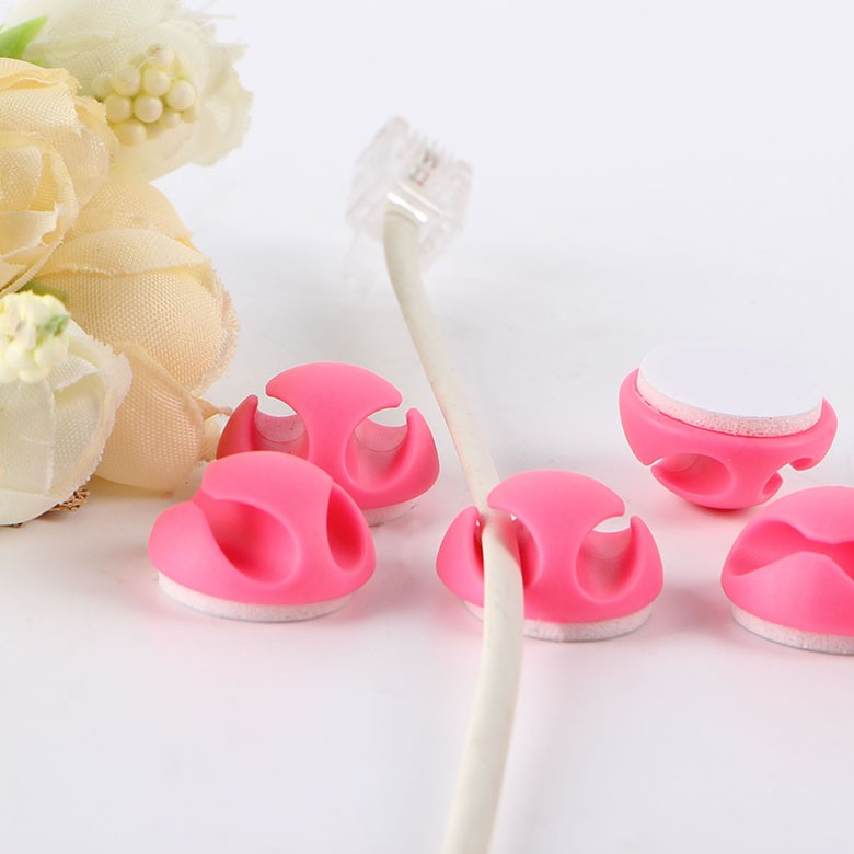 2013 Best Selling Headphone Cable Clip Plastic Ring Holder Clip