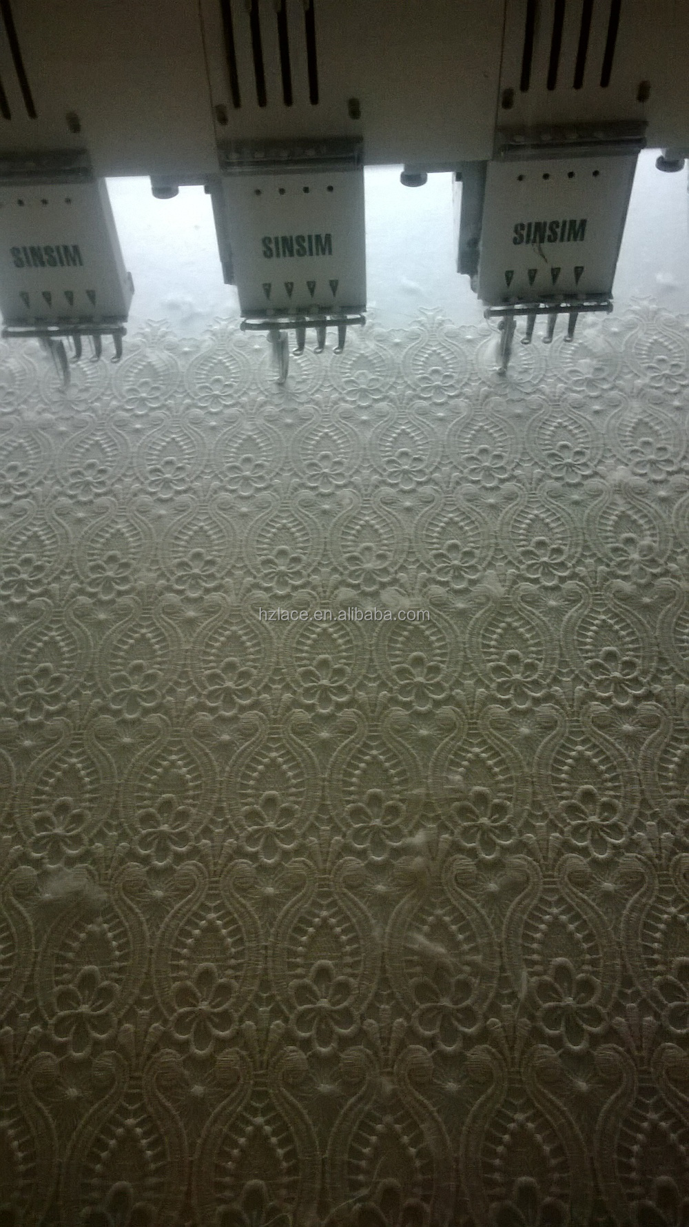heavy ivory chemical and water soluble lace fabric for garment