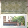 polyester print roman blinds, roman shades