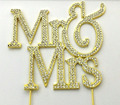 2018 Silver Rhinestone crystal Mr & Mrs wedding cake topper For wedding party supplies