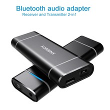 wireless bluetooth 2-in-1 audio transmitter and receiver for clear audio speaker