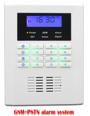 wireless pstn gsm smart home alarm system with 99 Wireless defense zones