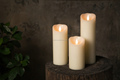 Tecmo Enkinddle 3*9 inch scents led candles with paraffin wax and with timer control