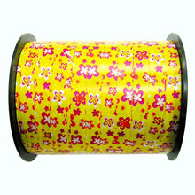 Popular Selling!Floral Printed Solid Gloss Ribbon for Making Star Bow/Pull bow/ribbon eggs